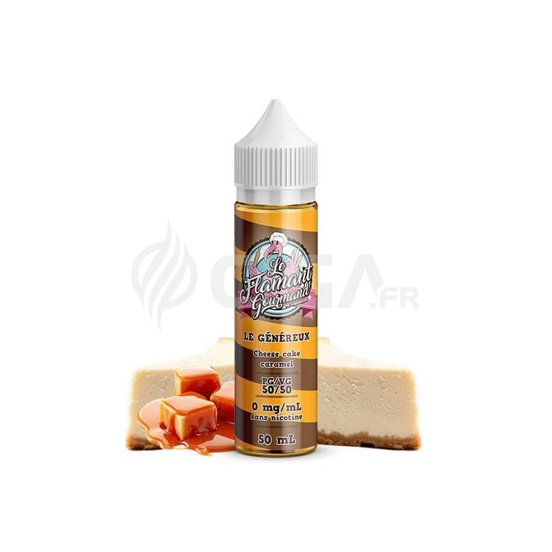 E-liquide Le généreux 50ml de Le Flamant Gourmand de Liquidarom.