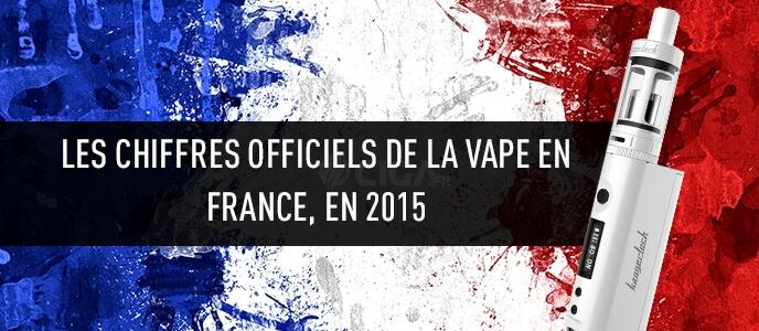 Les chiffres officiels de la vape en France, en 2015