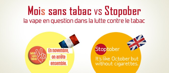 Mois sans tabac vs Stoptober : la vape en question dans la lutte contre le tabac
