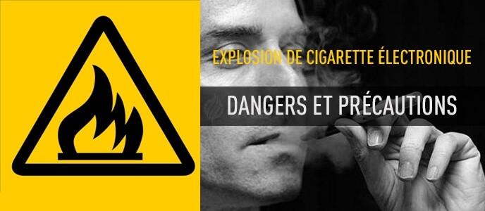 Explosion de cigarette électronique : dangers et précautions